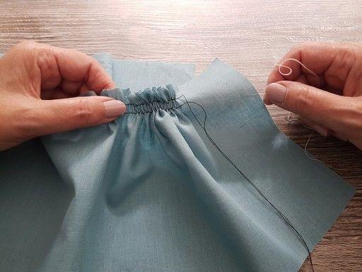 Comment faire des fronces sur du tissu fin à l'aide des fils de fronce