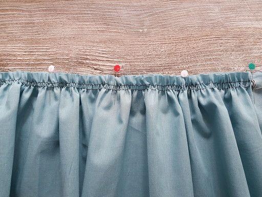 Faire la répartition des fronces sur du tissu fin