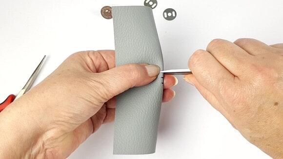 Préparation de la pose du bouton magnétique