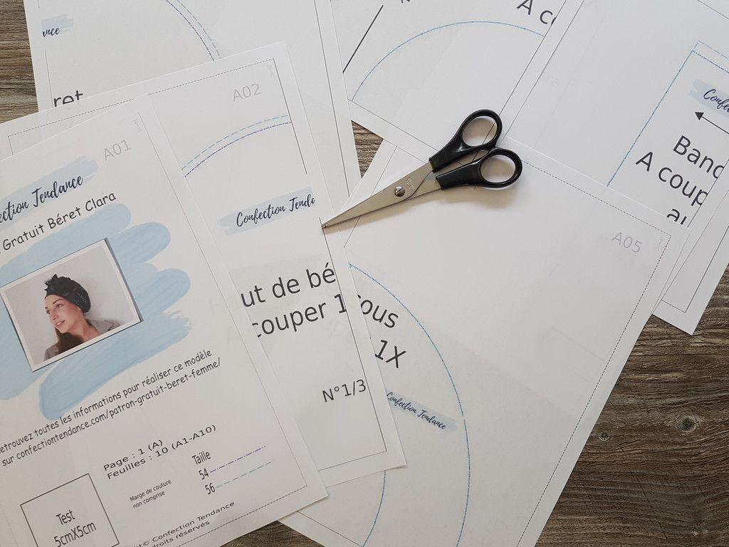 Imprimer un patron en pdf