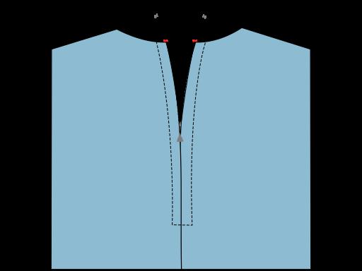 Pose de la fermeture à glissière bord à bord - arrêt des maillons au point zigzag