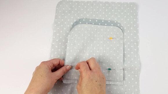 Couperl'excédent de tissu